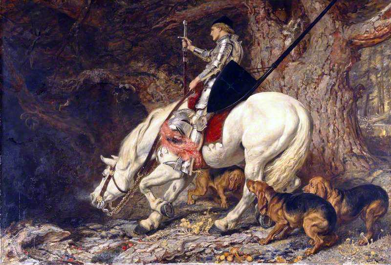'In Manus Tuas, Domine' Briton Riviere (1879) Manchester Art Gallery